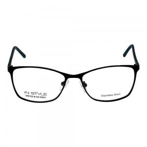 Full Rim Metal Rectangle Black Small In Style ISCF08 Eyeglasses