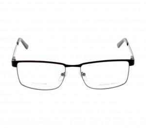Full Rim Stainless Steel Rectangle Black Medium Julius JUAM30 Eyeglasses