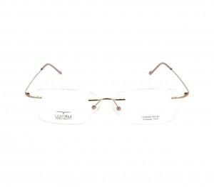 Rimless Stainless Steel Rectangle Brown Large Light Fly LFBM49 Eyeglasses