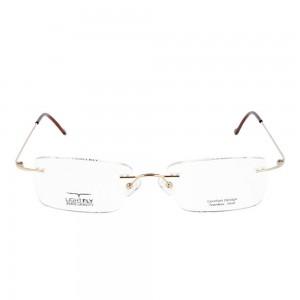 Rimless Stainless Steel Rectangle Gold Large Light Fly LFBM49 Eyeglasses