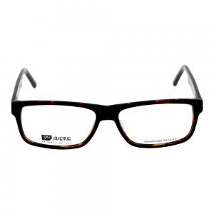 Full Rim Stainless Steel Rectangle Brown Large 5th Avenue FACM17 Eyeglasses