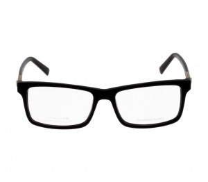 Full Rim Acetate Rectangle Black Large Julius JUAM06 Eyeglasses