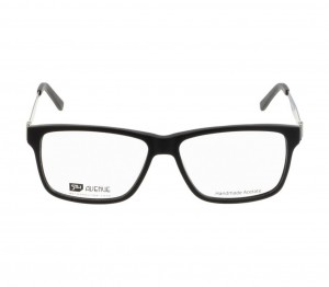 Full Rim Acetate Rectangle Black Large 5th Avenue FACM18 Eyeglasses