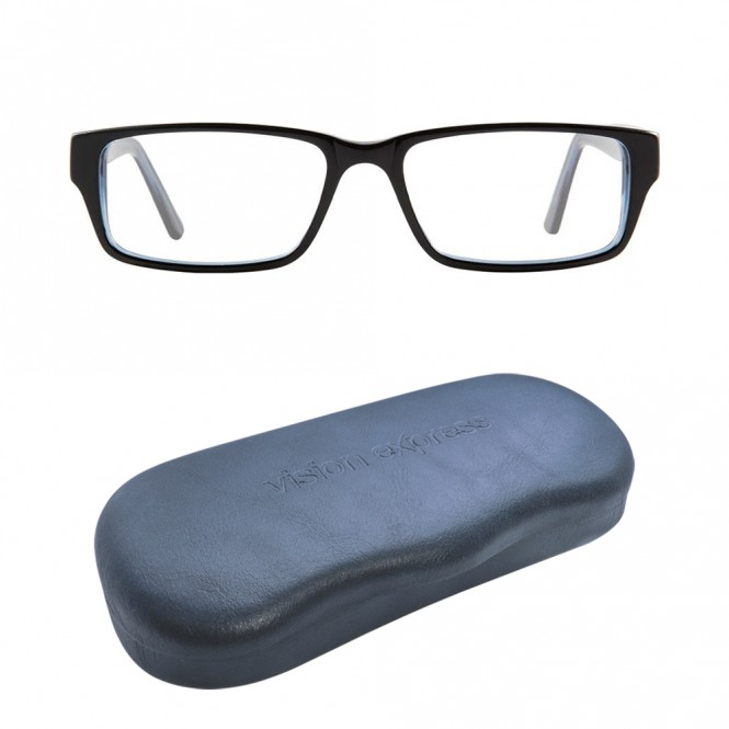 Full Rim Acetate Rectangle Black Large DbyD DBCM21 Eyeglasses