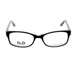 Half Rim Monel Rectangle Black Medium DbyD DYF34 Eyeglasses