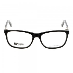 Full Rim Acetate Rectangle Black Medium 5th Avenue FAAF43 Eyeglasses