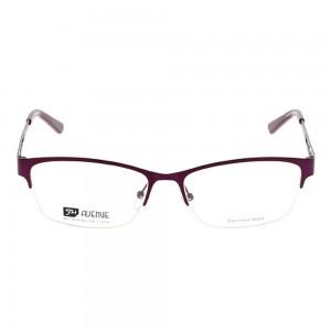 Half Rim Stainless Steel Rectangle Violet Large 5th Avenue FABF30 Eyeglasses