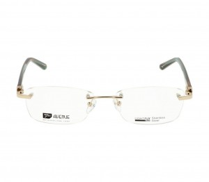 Rimless Metal Rectangle Gold Medium Light Fly LFCF32 Eyeglasses