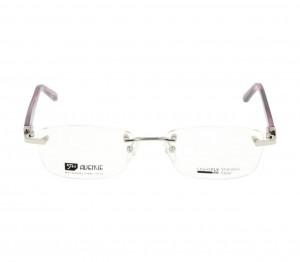 Rimless Metal Rectangle Silver Medium Light Fly LFCF32 Eyeglasses