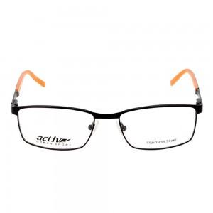 Full Rim Metal Rectangle Black Medium Activ ACCM02 Eyeglasses