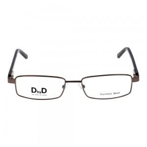 Full Rim Stainless Steel Rectangle Grey Medium DbyD DYH06 Eyeglasses