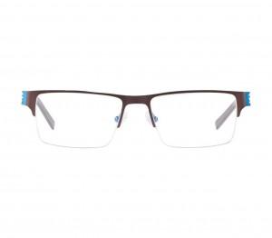Half Rim Metal Rectangle Blue Medium Miki Ninn MNBM02 Eyeglasses