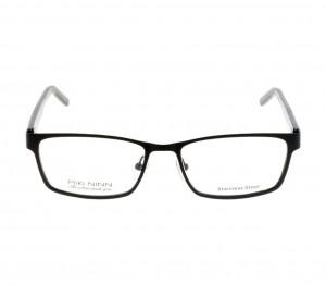 Full Rim Stainless Steel Rectangle Black Medium Miki Ninn MNBM05 Eyeglasses