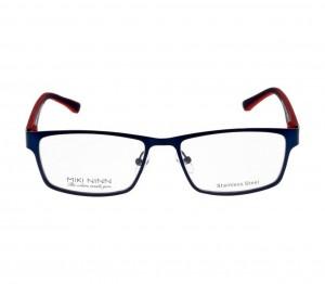 Full Rim Stainless Steel Rectangle Blue Medium Miki Ninn MNAM59 Eyeglasses