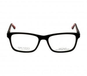 Full Rim Acetate Rectangle Black Medium Miki Ninn MNAM50 Eyeglasses