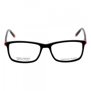 Full Rim Acetate Rectangle Black Medium Miki Ninn MNBM06 Eyeglasses