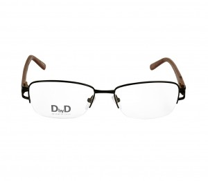 Half Rim Metal Rectangle Black Medium DbyD DBAF19 Eyeglasses