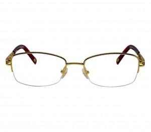 Half Rim Metal Oval Gold Medium Vision Express 31612 Eyeglasses