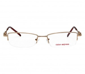 Half Rim Metal Rectangle Gold Medium Vision Express 48945 Eyeglasses