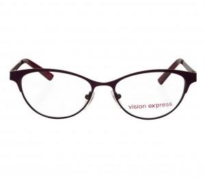 Blue Shield (Zero Power) Computer Glasses: Full Rim Cat Eye Purple Metal Medium 48982B