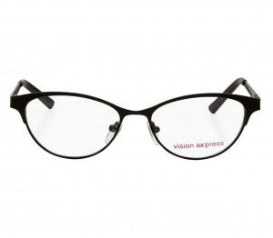Blue Shield (Zero Power) Computer Glasses: Full Rim Cat Eye Black Metal Medium 48982B
