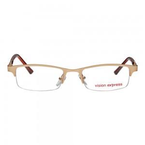 Half Rim Metal Rectangle Gold Medium Vision Express 29164 Eyeglasses