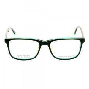 Full Rim Acetate Rectangle Green Medium Miki Ninn MNDM00 Eyeglasses