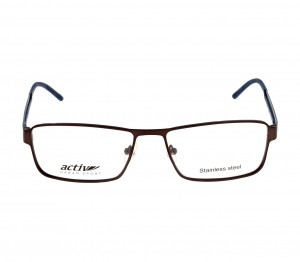 Full Rim Metal Rectangle Black Large Activ ACCM04 Eyeglasses