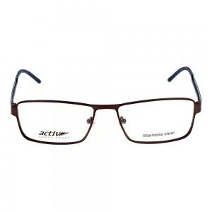 Full Rim Metal Rectangle Black Large Activ ACCM04 Eyeglasses