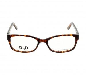 Full Rim Acetate Rectangle Havana Medium DbyD DYF31 Eyeglasses