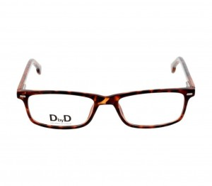 Full Rim Polycarbonate Rectangle Havana Medium DbyD DYH04 Eyeglasses