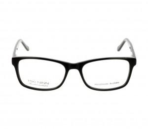 Full Rim Acetate Rectangle Black Medium Miki Ninn MNBF53 Eyeglasses