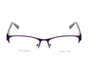 Half Rim Stainless Steel Round Violet Medium Miki Ninn MNCF39 Eyeglasses