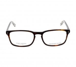 Full Rim Acetate Rectangle Brown Medium Miki Ninn MNDM28 Eyeglasses