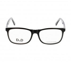Full Rim Acetate Rectangle Black Medium DbyD DBCM19 Eyeglasses