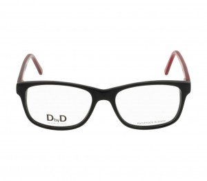 Full Rim Acetate Rectangle Black Medium DbyD DBCM20 Eyeglasses