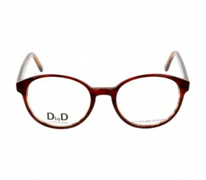 Full Rim Acetate Round Brown Medium DbyD DBCF18 Eyeglasses