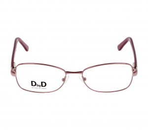 Full Rim Stainless Steel Rectangle Pink Medium DbyD DYF16 Eyeglasses