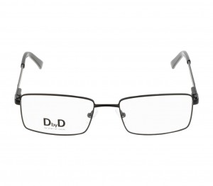 Full Rim Stainless Steel Rectangle Black Medium DbyD DYH11 Eyeglasses