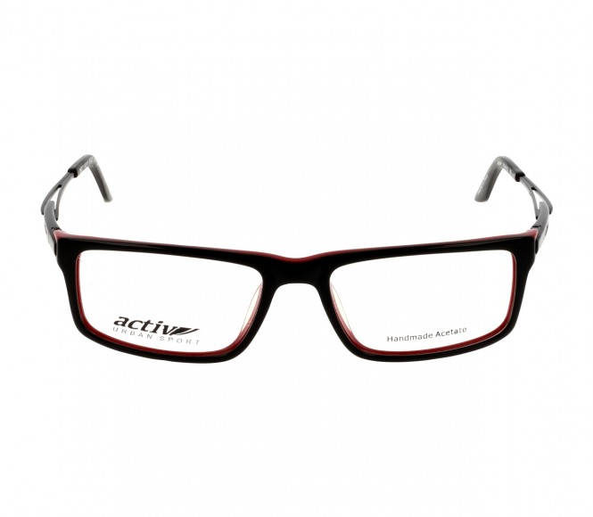 Full Rim Acetate Rectangle Black Medium Activ ACAM22 Eyeglasses