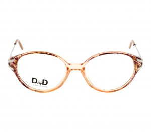 Full Rim TR90 Round Brown Medium DbyD DYF58 Eyeglasses