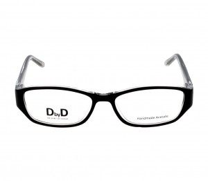 Full Rim Acetate Rectangle Black Medium DbyD DYF60 Eyeglasses