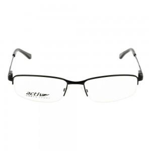 Half Rim Metal Rectangle Brown Large Activ ACCM01 Eyeglasses
