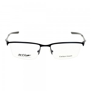 Half Rim Monel Rectangle Blue Large Activ ACDM01 Eyeglasses