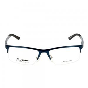 Half Rim Metal Rectangle Blue Medium Activ ACDM03 Eyeglasses