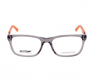 Full Rim Acetate Rectangle Grey Medium Activ ACDM04 Eyeglasses