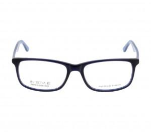 Full Rim Acetate Rectangle Blue Large In Style ISAM28 Eyeglasses