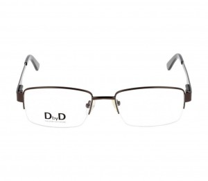 Half Rim Monel Rectangle Grey Medium DbyD DBBM10 Eyeglasses