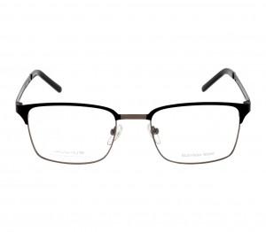 Full Rim Metal Rectangle Black Small Julius JUAM29 Eyeglasses