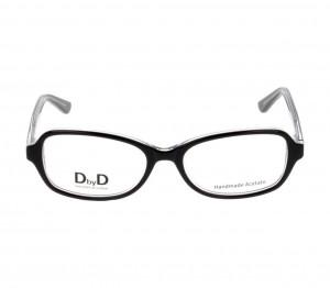 Full Rim Acetate Almond Black Medium DbyD DBAF23 Eyeglasses